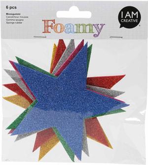 FOAMY, Sterne Glitter, 11X11cm, 60 Stk