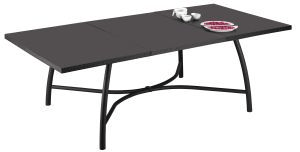 TABLE A RALLONGE 240X120CM ANTHRAZIT