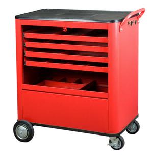 Chariot d'atelier rouge