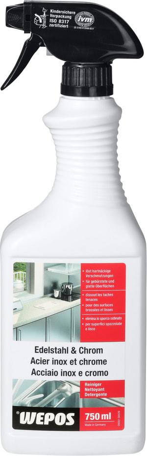 Detergente per acciaio inox e cromo