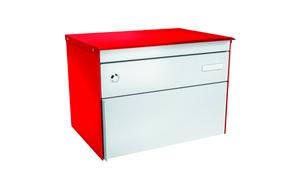 Boîtes-aux-lettres s:box 13 rouge feu/blanc alu