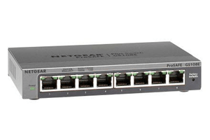 GS108E-300PES 8-Port Smart Managed Plus Gigabit Switch