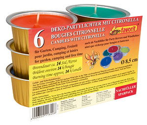 Candele 6 pz. Citronella