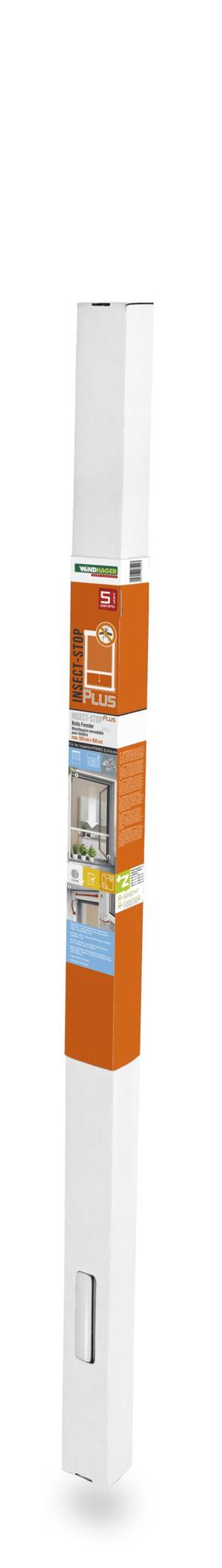Insektenschutz Rollo Fenster 100x160cm aluminium