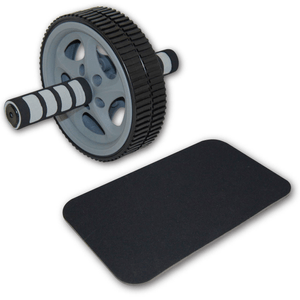 Double Exercise Wheel Deluxe Ab Roller mit Matte