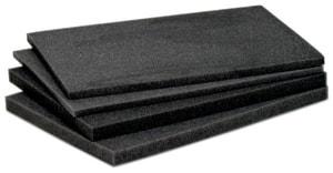 Schaumstoff-Einlagenset Koffer 360 x 260 x 62 mm