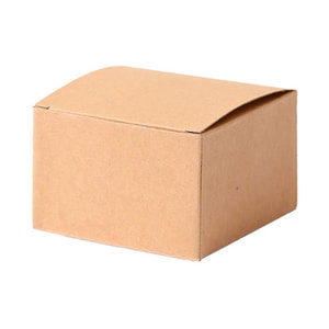 Papierboxen, 7.6 x 7.6 x 5 cm, braun, 6 Stk.