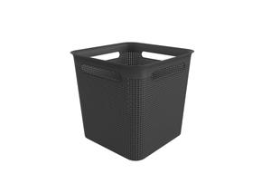 Boîte carrée 18l Brisen noires