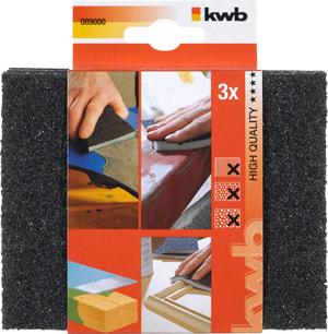 Éponges abrasives BOIS & MÉTAL, fin/moyen/gros 3 pcs.