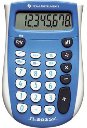 Calculatrice TI-503SV 8-chiffres