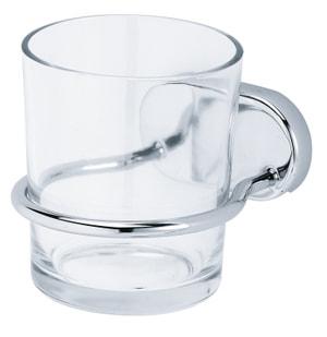 Glashalter einfach Lima, chrom