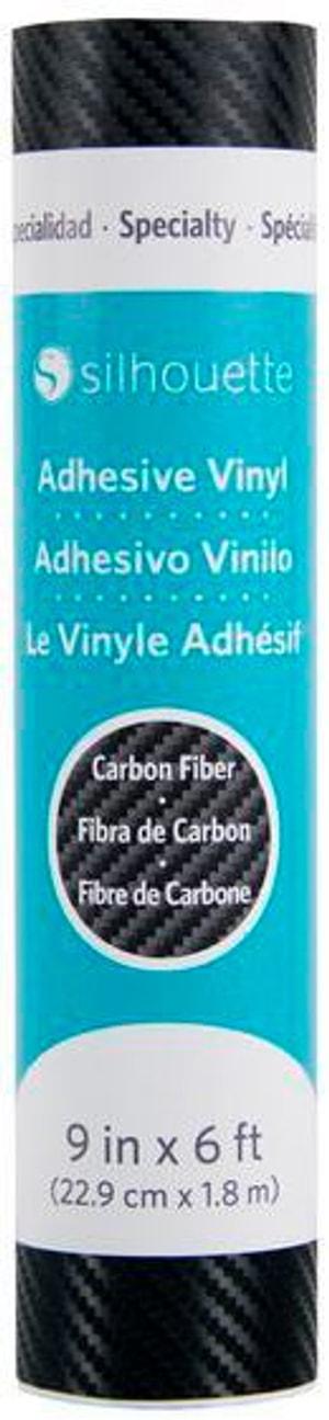 Film de vinyle 22.9 cm x 180 cm Carbone, Noir