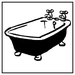 Reliefeinlagen Herzen / Badewanne