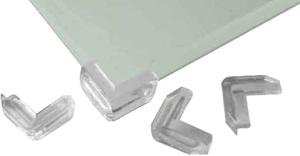 Eckschutz für Glastisch