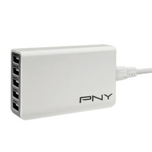 Multi USB Charger 5 Ports USB-Ladegerät weiss