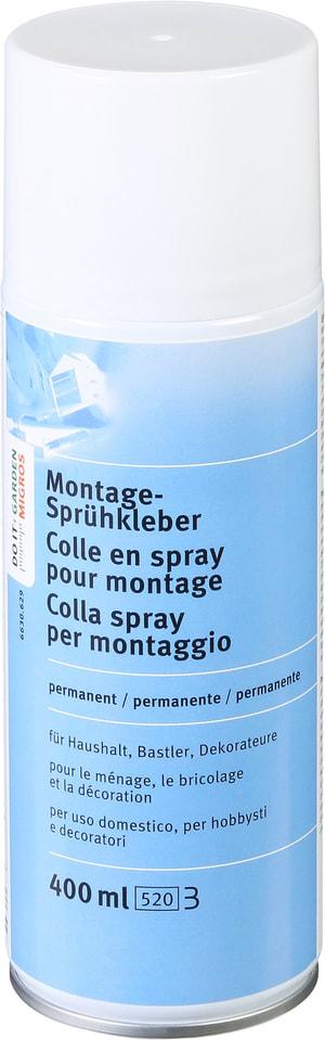Colle en spray pour montage permanent