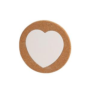 Des. plat liège rondo coeur, 15cm