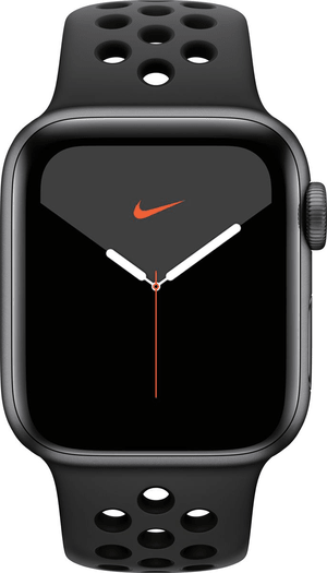 Watch Nike Series 5 LTE 40mm space gray Aluminium Anthracite Black Nike Sport Band