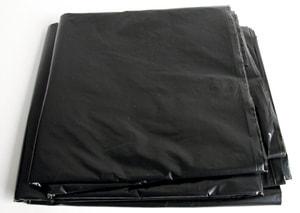 Abdeckplane schwarz 4x5m gefaltet, 75my dick