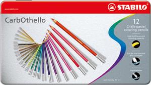 Gessetti pastello STABILO® CarbOthello, 12 matite