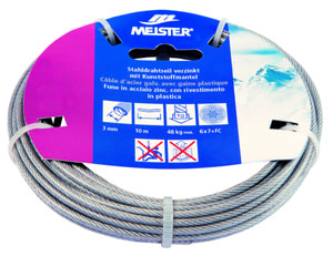 Stahldrahtseil verzinkt mit Kunststoffmantel
