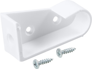 SUPPORT POUR TUBE D'ARMOIRE BLANC 1 PA