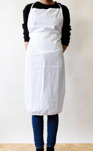 Tablier, blanc, 70x95cm, Bw