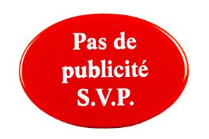 Insegna in email Pas de publicité S.V.P.