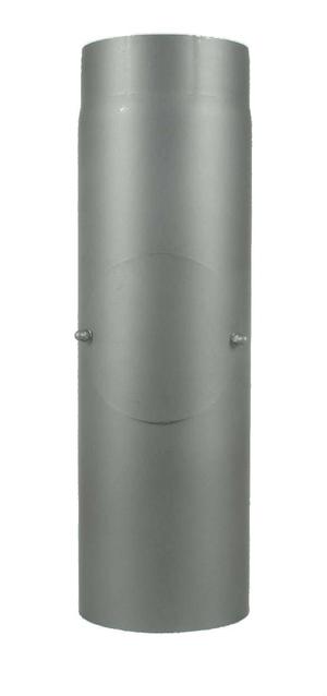Rauchrohr 50 cm, mit Putzdeckel