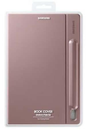 Book Cover Galaxy Tab S6 brun
