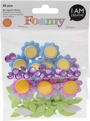 FOAMY, fleur, 68 pcs