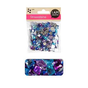 STRASS.ANGULAIRE BLEU-MIX