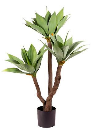 Kunstpflanze Agave grün mit 3 Kronen