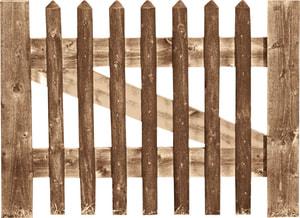 Portillon pour clôture palissades