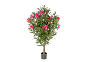 Plante artificielle laurier-rose rose vif