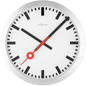 Stazione dell'orologio a muro spazzolato 34,8 cm