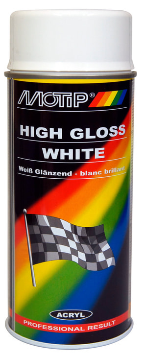Peinture rallye blanc high gloss 150 ml