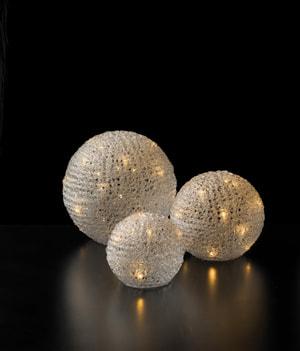 Boules lumineuse LED de 3 pièces