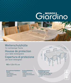 Housse de protection pour table rectangulaire