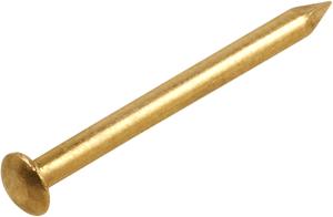 Messingstift Halbrundkopf vernickelt