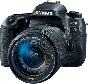 EOS 77D 18-135 IS USM, 24,2 MP inc.