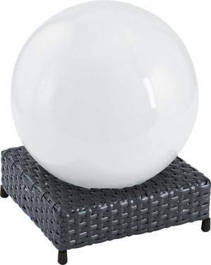 Lampada solare LED in rattan antracite