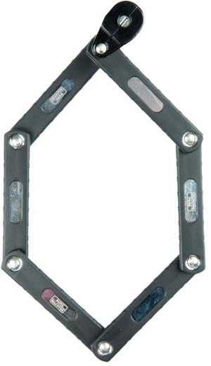 Lucchetto pieghevole con serratura a cilindro, B/740/70 Black