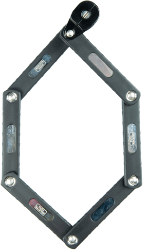 Zylinder-Faltschloss, B/740/70 Black