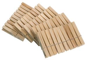 Pinces à linge bois FSC 50 pièces
