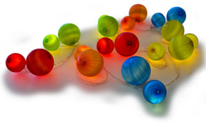LED Lichterkette Kugeln