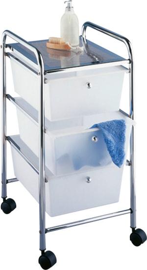 Haushalts- und Badwagen Messina mit 3 Schubladen