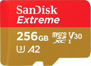 SanDisk  Extreme 160MB/s microSDHC 256GB