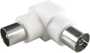 Adaptateur d'antenne 90° blanc