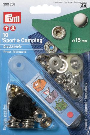 Boutons-pressions pour le sport et le camping